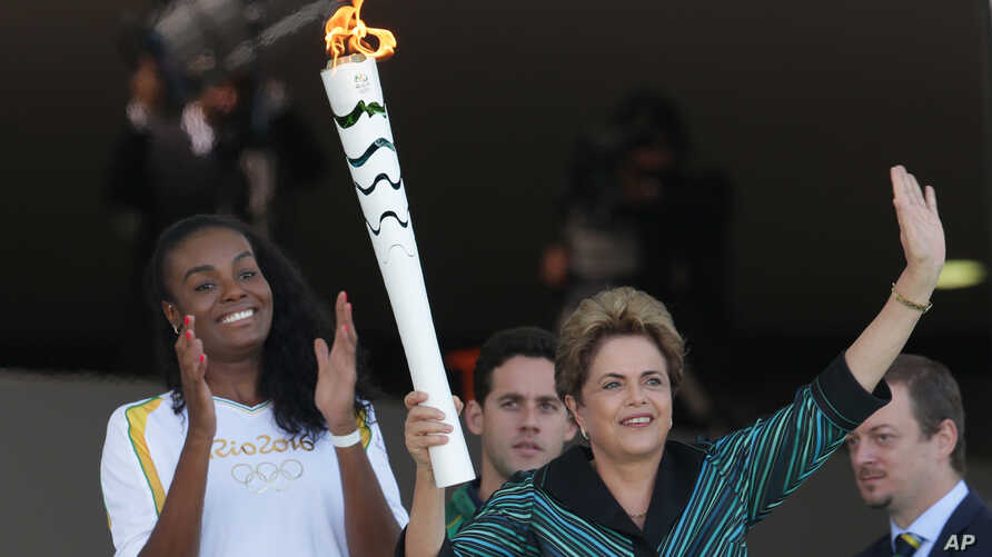 Brazil Olympic Flame