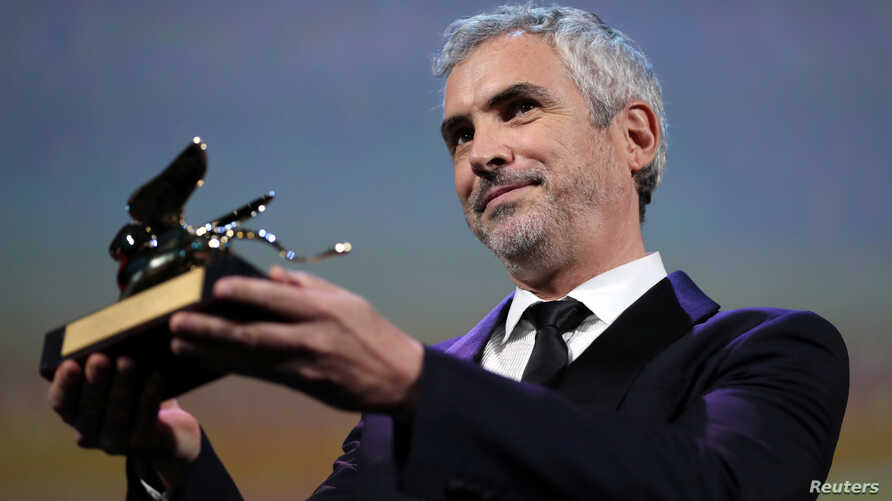 """Director Alfonso Cuaron's """"Roma"""" won the Golden Lion for Best Film at the Venice Film Festival in Venice, Italy, Sept. 8, 2018."""