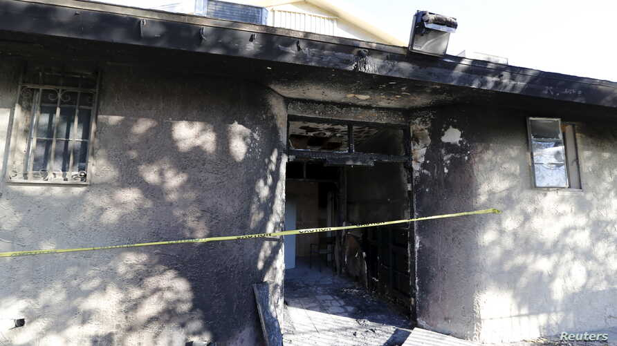 A fire that broke out at the Islamic Society of Coachella Valley mosque Friday appears to have been intentionally set and is being investigated as a possible hate crime, the Riverside County Sheriff's Department said, Dec. 12, 2015.