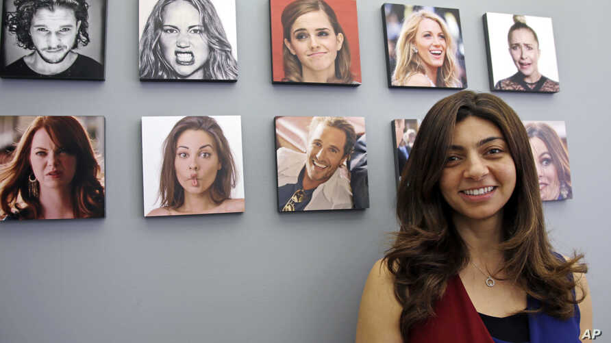 Rana el Kaliouby, CEO of the Boston-based artificial intelligence firm Affectiva, is pictured in Boston, April 23, 2018. Affectiva builds face-scanning technology for detecting emotions, but its founders decline business opportunities that involve sp