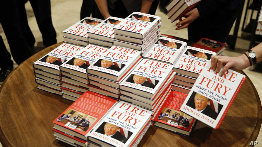 """Copies of Michael Wolff's """"Fire and Fury: Inside the Trump White House"""" went on sale, Jan. 9, 2018, at a bookshop, in London. North Korea has found good material to attack President Donald Trump in the new book by Michael Wolff."""