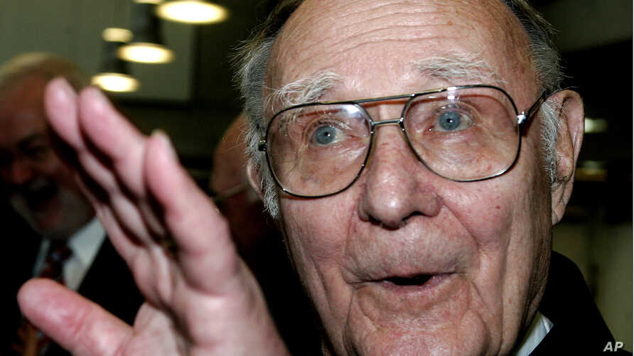 Sweden's IKEA furniture brand founder, Ingvar Kamprad - seen in this June 17, 2017 photo - died at the age of 91, Jan. 28, 2018.