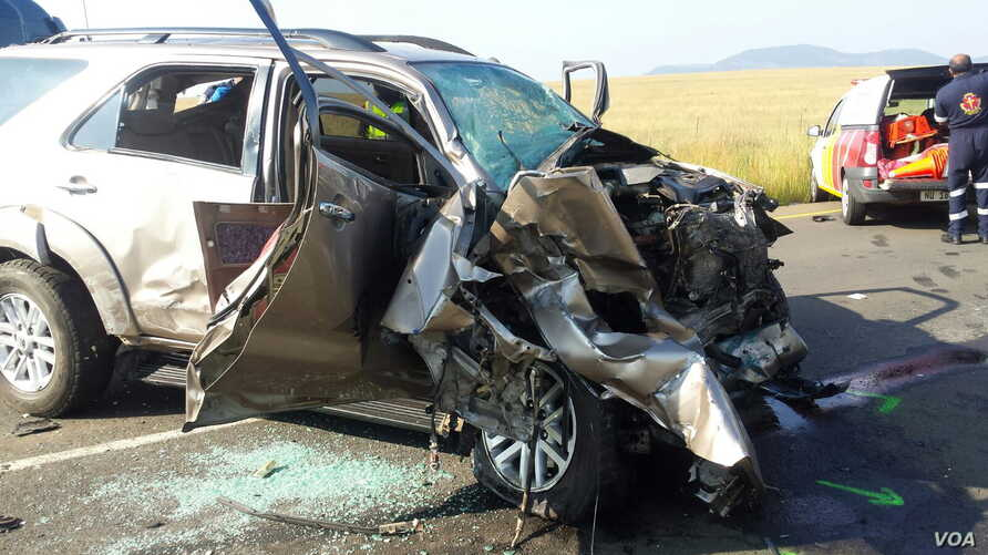 The scene of another fatal high-speed collision on a highway in South Africa.
