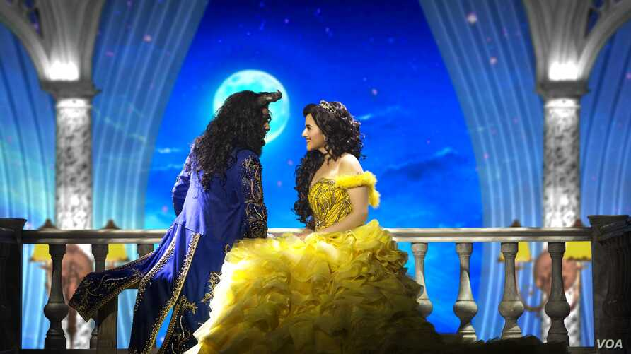 """A scene from Disney's """"The Beauty and the Beast"""" Broadway show in India."""