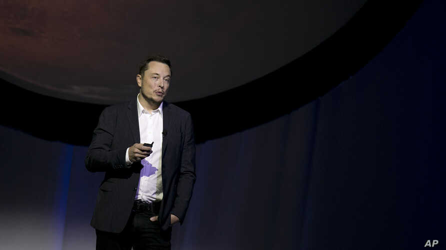 SpaceX founder Elon Musk speaks during the 67th International Astronautical Congress in Guadalajara, Mexico, Sept. 27, 2016.