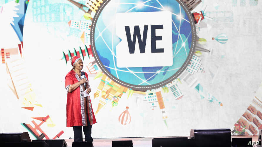 Head of U.N. Women Phumzile Mlambo-Ngcuka speaks on stage at WE Day U.N. at The Theater at Madison Square Garden in New York City, Sept. 20, 2017.