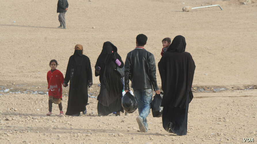 In the Haj Ali camp in northern Iraq, wives of dead, captured or fled IS fighters say they were unable to impact their husbands' choices in their conservative society.