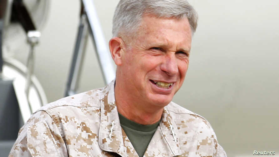 FILE - Marine Corps Lieutenant General Thomas Waldhauser, March 30, 2012.
