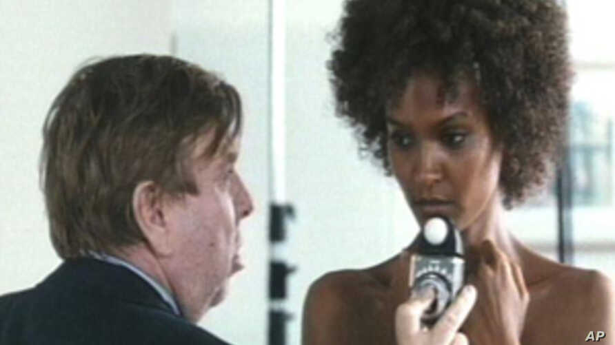 """A scene from """"Desert Flower"""" with Timothy Spall and Liya Kebede."""