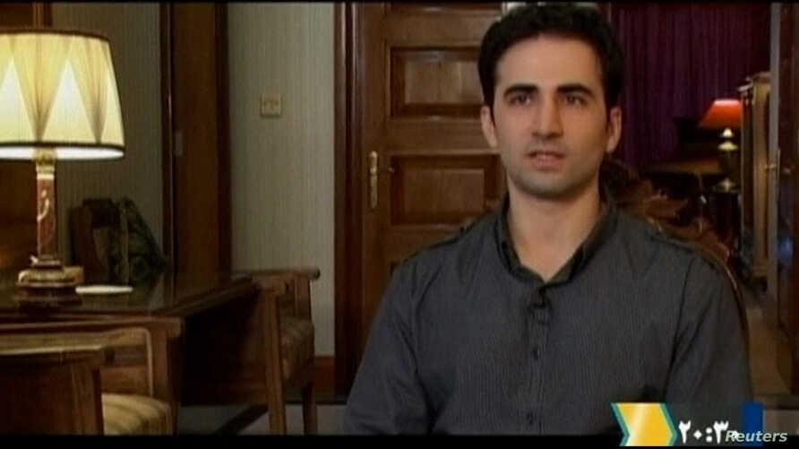 Iranian-American Amir Mirza Hekmati speaks during a recorded interview in an undisclosed location, in this undated still image taken from video made available to Reuters TV on January 9, 2012.