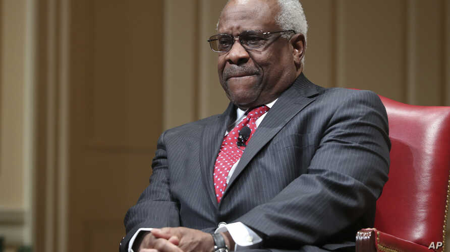 U.S. Supreme Court Associate Justice Clarence Thomas attends an event at the Library of Congress in Washington, Feb. 15, 2018.