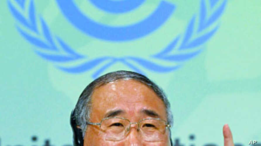 Vice-director of the National Development and Reform Commission and head of the Chinese delegation Xie Zhenhua speaks during a news conference at the 17th Conference of the Parties (COP17) to the United Nations Framework Convention on Climate Change,