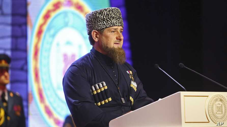 Chechen regional leader Ramzan Kadyrov speaks at his inauguration ceremony in Chechnya's provincial capital Grozny, Russia, Wednesday, Oct. 5, 2016.
