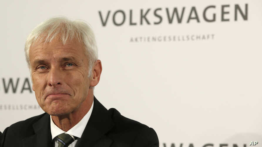 Newly appointed Volkswagen CEO Matthias Mueller in Wolfsburg, Germany, Sept. 25, 2015,