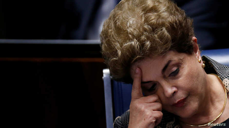 Brazil's suspended President Dilma Rousseff attends the final session of debate and voting on Rousseff's impeachment trial in Brasilia, Brazil, August 29, 2016.