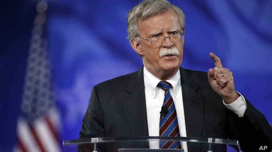 FILE - Former U.S. Ambassador to the UN John Bolton speaks at the Conservative Political Action Conference (CPAC), Feb. 24, 2017, in Oxon Hill, Md.