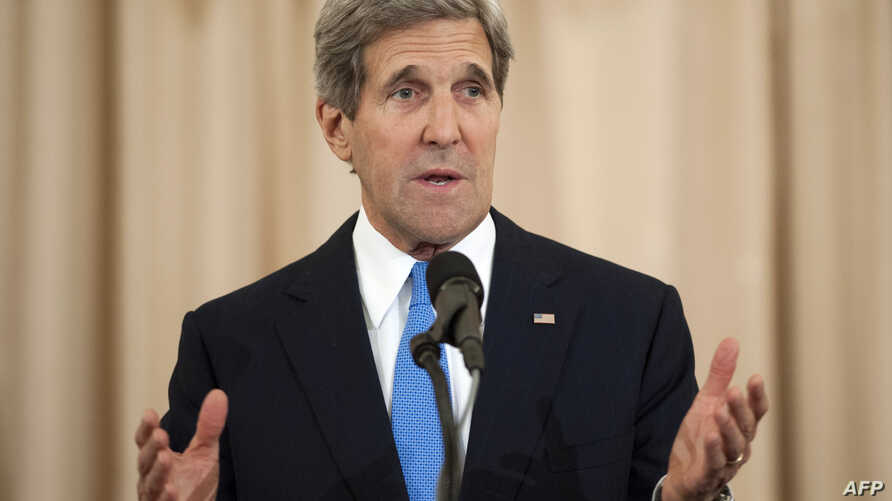 US Secretary of State John Kerry speaks during an event releasing the Annual Trafficking in Persons Report (TIP) Report June 19, 2013