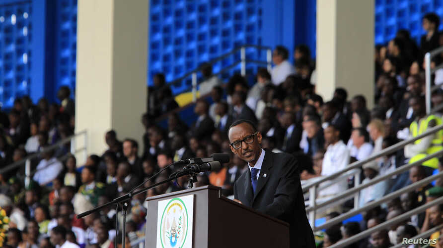 Rwandan President Paul Kagame delivers his speech during the commemoration of the 20th anniversary of the Rwandan genocide, in Kigali, April 7, 2014.