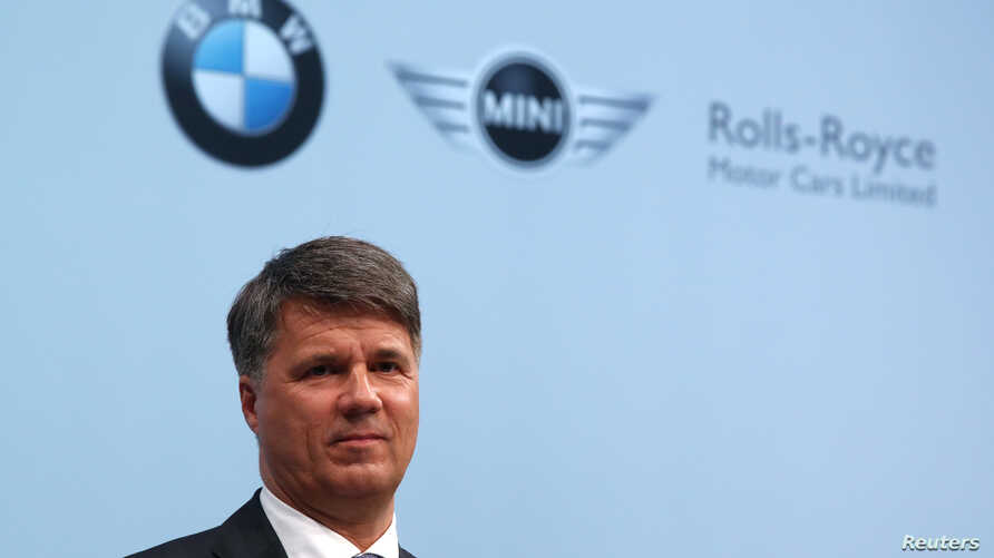 FILE - Harald Krueger, Chief Executive of German luxury carmaker BMW addresses the company's annual news conference in Munich, southern Germany, March 21, 2017.