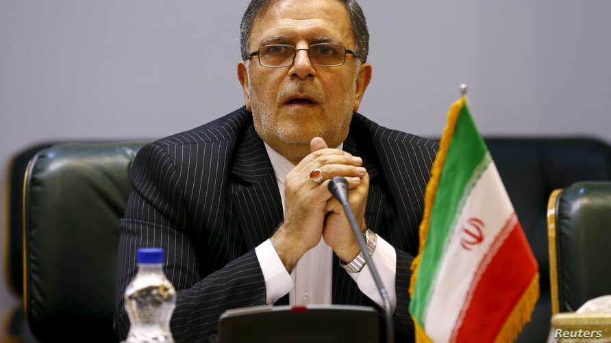 file - Valiollah Seif, Governor of Central Bank of Iran, in Tehran, Aug. 23, 2015.