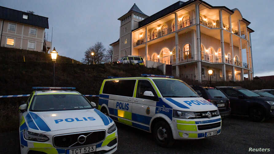 An exterior view of Johannesberg Castle, the site of peace talks on Yemen, in Rimbo, north of Stockholm, Sweden, Dec. 4, 2018.