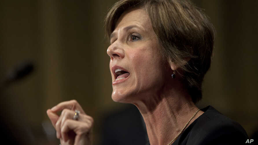 Deputy Attorney General Sally Quillian Yates, testifies during the Senate Judiciary Committee hearing on Capitol Hill in Washington, July 8, 2015.
