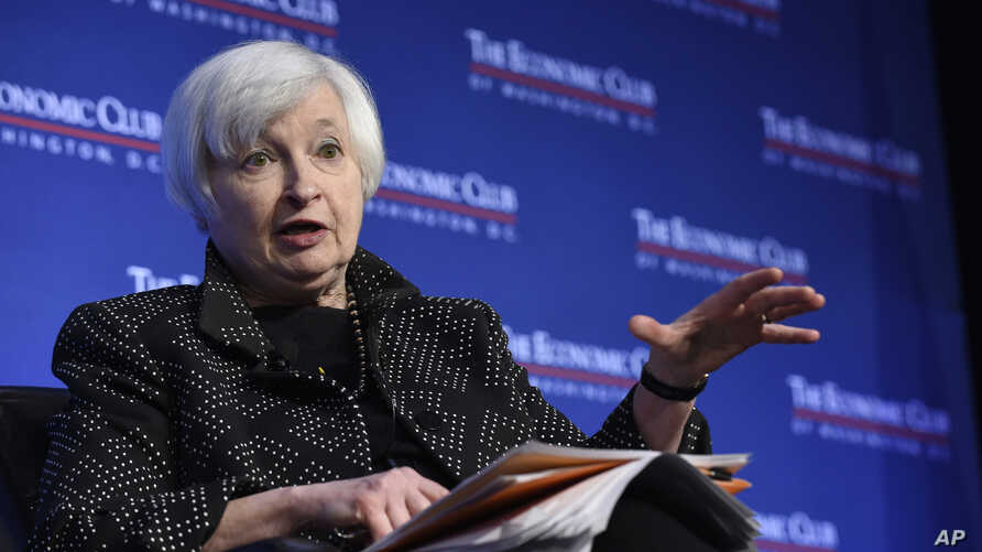 Federal Reserve Chair Janet Yellen at the Economics Club of Washington, Dec. 2, 2015.