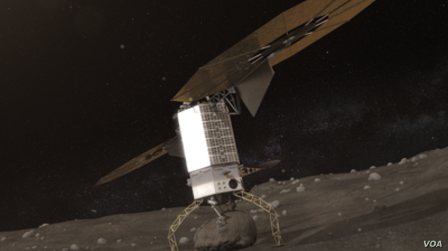 The ARM spacecraft will land on an asteroid and carry a large boulder back to near earth orbit