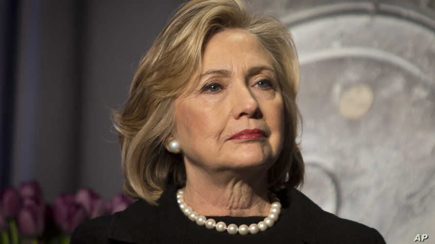 FILE - Hillary Rodham Clinton is seen in New York, Nov. 21, 2014.