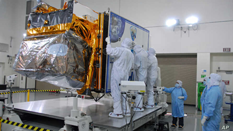NPP inside a clean room at Vandenberg Air Force Base in California