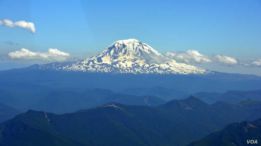 Mount Rainier is the highest mountain of the Cascade Range of the Pacific Northwest.