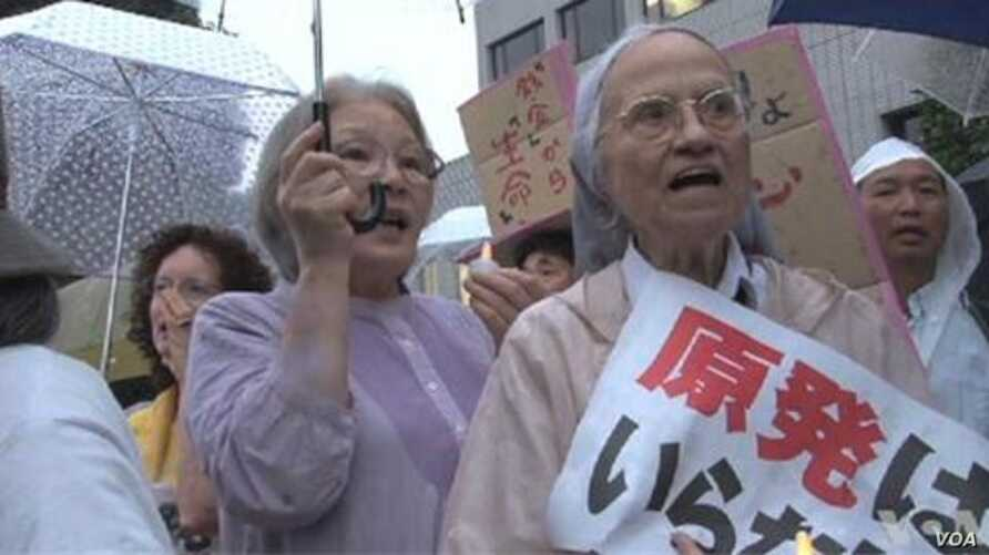 Japanese Protest Government's Decision to Restart Idled Nuclear Power Plants,.