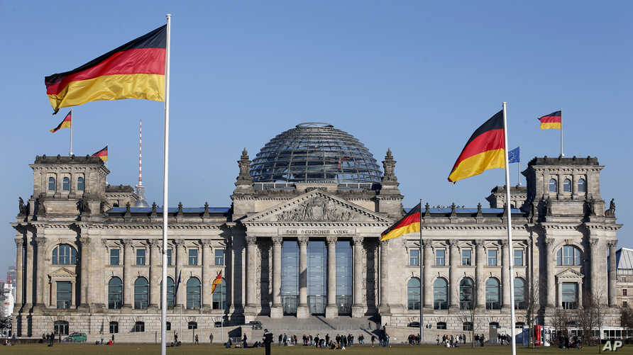 """A top police official says, March 30, 2017, a recent hacking attack on the German Parliament may have led to a """"significant drain of data"""" which may be used to try influence the outcome of the country's general election in September."""