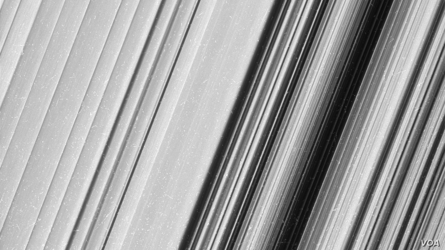This image shows a region in Saturn's outer B ring. NASA's Cassini spacecraft viewed this area at a level of detail twice as high as it had ever been observed before. And from this view, it is clear that there are still finer details to uncover.