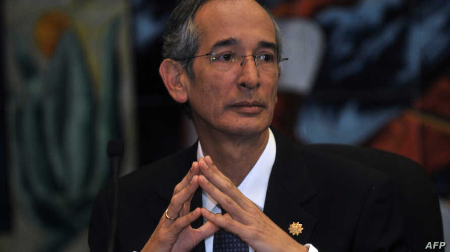 "FILE - Guatemala's then-President Alvaro Colom, Oct. 1, 2010, described as ""crimes of lese-humanity"" the study conducted by the United States more than 60 years ago in Guatemala in which U.S.-led researchers infected hundreds of people with syphilis"