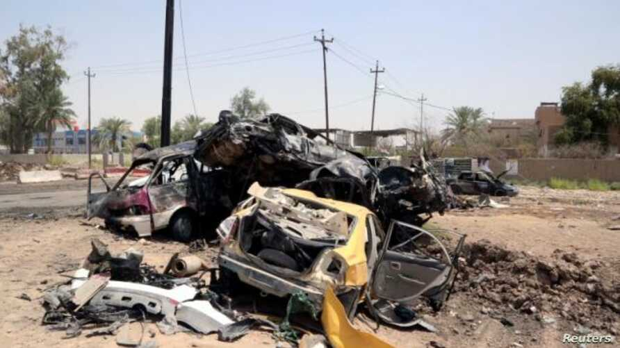 A suicide car bombing in Iraq