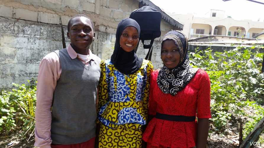 Adama, Awa and Penda were the three Starling Sponsorship Program recipients who recently completed high school. (Courtesy photo)