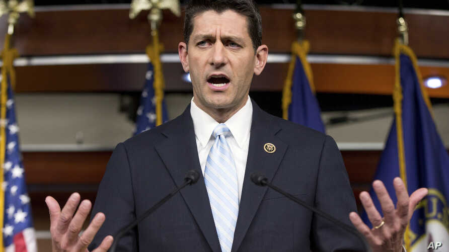 Rep. Paul Ryan, R- Wis., speaks at a news conference following a House Republican meeting, Tuesday, Oct. 20, 2015, on Capitol Hill in Washington.