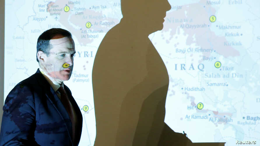 Brett McGurk, the United States' envoy to the coalition against Islamic State, arrives to attend a news conference in Amman, Jordan, May 15, 2016.