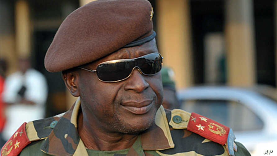 General Agusto Mario, chief-of-staff of Guinea-Bissau army is pictured  on April 16, 2012 at Bissau's airport.