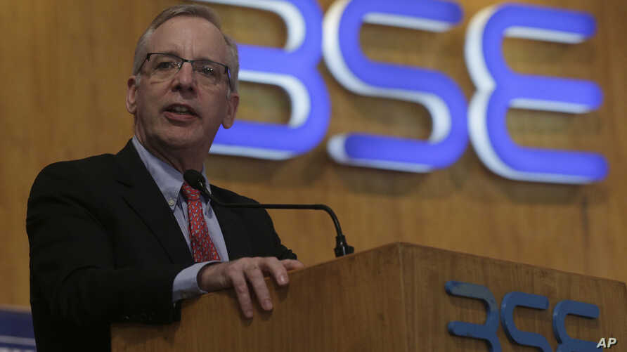 William C. Dudley, President and Chief Executive Officer of the Federal Reserve Bank of New York addresses Indian businessmen at the Bombay Stock Exchange (BSE) Mumbai, India, May 11, 2017.