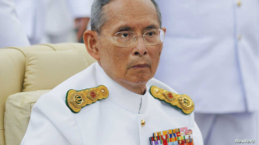 FILE - Thailand's King Bhumibol Adulyadej, shown in June 2012