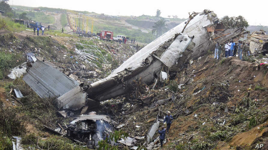 APTOPIX Congo Plane Crash
