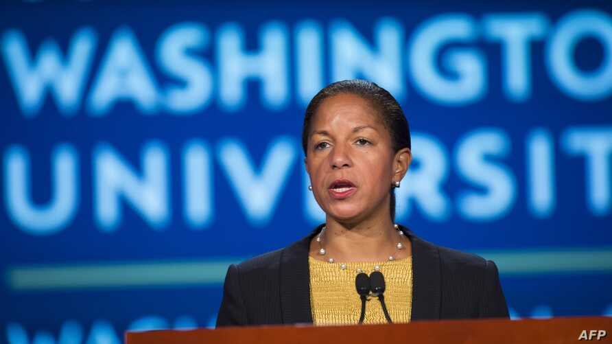 U.S. National Security Adviser Susan Rice speaks about the U.S.-China relationship at George Washington University in Washington, D.C., Sept. 21, 2015.