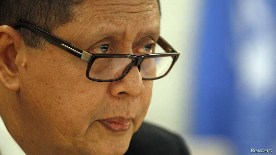United Nations Special Rapporteur on North Korea, Marzuki Darusman delivers his report to the Human Rights Council at the United Nations in Geneva, Mar. 11, 2013.