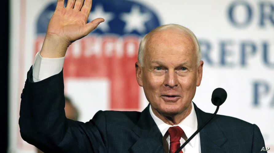 "FILE - Oregon Secretary of State Dennis Richardson, seen in this Nov. 8, 2016, file photo, has announced the ""first-of-its-kind"" pilot program for Oregon to use Facebook to contact inactive voters to remind them to update their registration."