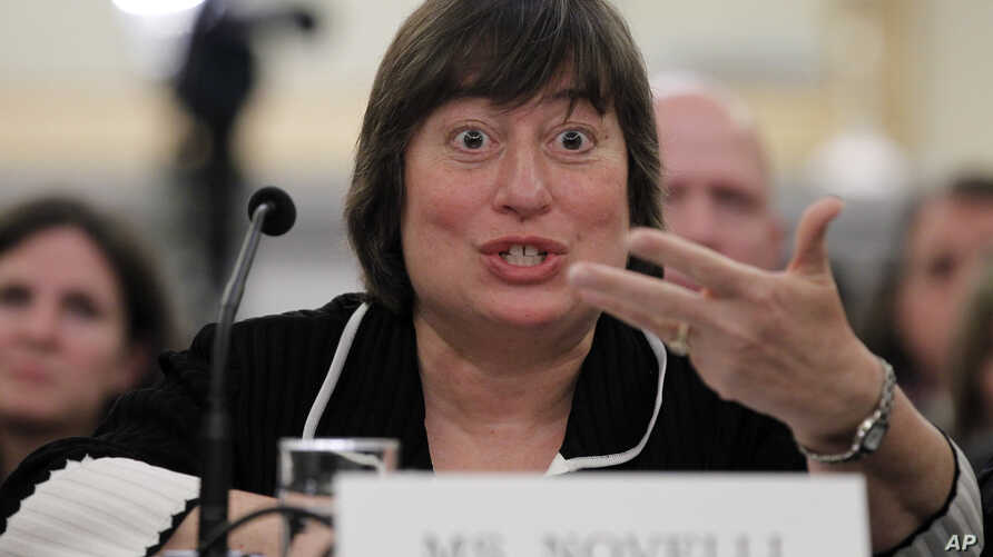FILE - Catherine Novelli on Capitol Hill in Washington, May 19, 2011. U.S. Under Secretary of State Novelli met senior Cambodian leaders in Phnom Penh last Friday and discussed a range of issues including deforestation, energy and technology.