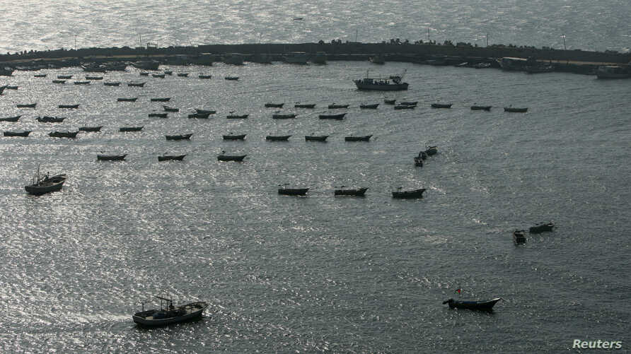 A general view of the Gaza Seaport, March 30, 2011.