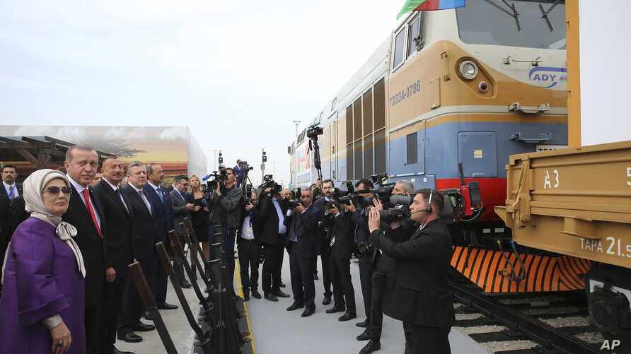 Azerbaijan Turkey Georgia railway October 30, 2017