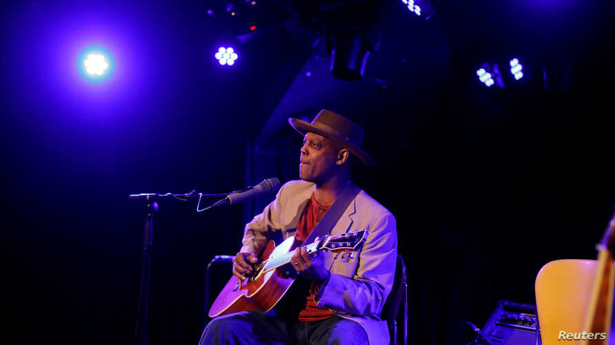 Eric Bibb from the U.S. performs at the Flux theater in Zaandam, Netherlands March 24, 2017. Picture taken March 24, 2017.